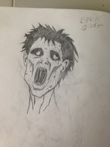 "A ""Last Night On Earth"" inspired Zombie Head."