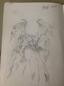 One of my earlier drawings. I've always liked gargoyles.