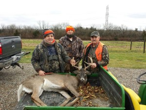 My father-in-law, Mike, Me, and Cary our last time hunting together